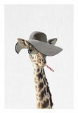 Giraffe Dressed in a Hat Posters