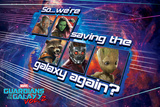 Guardians of the Galaxy: Vol. 2 - Star-Lord, Gamora, Drax, Groot, Rocket Raccoon (Exclusive) Prints