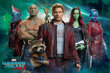Guardians of the Galaxy: Vol. 2  - Star-Lord, Gamora, Drax, Groot, Rocket Raccoon (Exclusive) Julisteet
