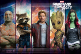 Guardians of the Galaxy: Vol. 2  - Star-Lord, Gamora, Drax, Groot, Rocket Raccoon (Exclusive) Juliste
