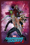 Guardians of the Galaxy: Vol. 2 - Star-Lord, Gamora, Drax, Groot, Rocket Raccoon (Exclusive) Affiche