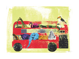 London Zoo Giclee Print by Katie Edwards