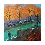 Ponies on the Common, 2017 Giclee Print by Lisa Graa Jensen