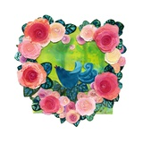 Bluebird, Pink Heart Giclee Print by Nichola Campbell
