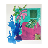 The Plants are on their Way Out, 2015, Aquatint Etching with Chine-Collé Giclee Print by Rose Electra Harris