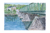 Frenchtown Bridge, 2004 Giclee Print by Anthony Butera