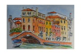 Venice, Canal, Dorsoduro, 2015 Giclee Print by Anthony Butera