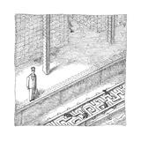 Rats run through maze-shaped subway tracks. - New Yorker Cartoon Premium Giclee Print by John O'brien