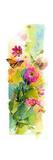 Zinnias and Butterflies, 2015 Giclee Print by John Keeling