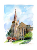 Church with Steeple, 2016 Giclee Print by John Keeling
