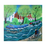 Along the Regents Canal, 2016 Giclee Print by Lisa Graa Jensen
