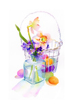 Egg Basket with Flowers, 2014 Giclee Print by John Keeling