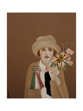 Suffragette with Golden Orb, 2017 Giclee Print by Susan Adams