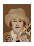 Suffragette with Golden Orb, 2017, Close Up Giclee Print by Susan Adams