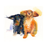 Dacshund Duo, 2014 Giclee Print by John Keeling