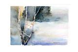 Birch in Winter, 2015 Giclee Print by John Keeling