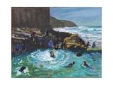 Chapel Rock Pool, Perranporth, Cornwall , 2017 Giclee Print by Andrew Macara