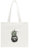 Moon with Cactus and Desert Plants Tote Bag Tote Bag by  bernardojbp