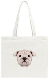Illustrated Portrait of English Bulldog Puppy Tote Bag Tote Bag by  ant_art