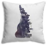 Fox from the City Throw Pillow Throw Pillow by Robert Farkas