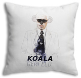 Koalagerfeld Throw Pillow Throw Pillow by  Mydeadpony