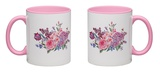 Vintage Garden Watercolor Spring Bouquet with Pink Flowers Blooming Mug Mug by Varvara Kurakina