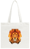 Lion Low Poly Portrait Tote Bag Tote Bag by  kakmyc