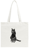 Smart Black Cat Polygon Tote Bag Tote Bag by Lisa Kroll