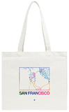 San Francisco Watercolor Street Map Tote Bag Tote Bag by  NaxArt