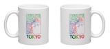 Tokyo Watercolor Street Map Mug Mug by  NaxArt