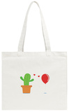 Cactus in Foolish Love with a Balloon Tote Bag Tote Bag by  Solar22