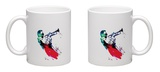 Miles Watercolor Mug Mug by Lora Feldman