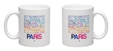Paris Watercolor Street Map Mug Mug by  NaxArt