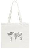 World Wire Map 2 Tote Bag Tote Bag by  NaxArt