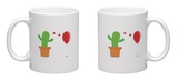 Cactus Have Foolish Love with Balloon Mug Mug by  Solar22