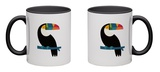 Rainbow Toucan Mug Mug by Andy Westface