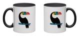 Rainbow Toucan Mug by Andy Westface