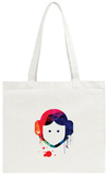 Leia Cartoon Watercolor Tote Bag Tote Bag by Lora Feldman
