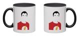 Sheldon Portrait Mug Mug by David Brodsky
