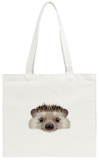 Illustrated Portrait of Hedgehog Tote Bag Tote Bag by  ant_art