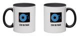 Stay on Track Blue Mug Mug by  NaxArt