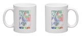New York Watercolor Street Map Mug Mug by  NaxArt