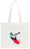 Miles Watercolor Tote Bag Tote Bag by Lora Feldman