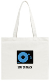 Stay on Track Blue Tote Bag Tote Bag by  NaxArt
