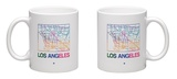 Los Angeles Watercolor Street Map Mug Mug by  NaxArt