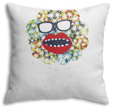 Monster In The Sky Throw Pillow Throw Pillow by  panova