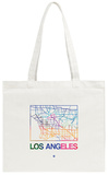 Los Angeles Watercolor Street Map Tote Bag Tote Bag by  NaxArt