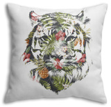 Tropical Tiger Throw Pillow Throw Pillow by Robert Farkas