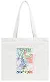 New York Watercolor Street Map Tote Bag Tote Bag by  NaxArt