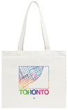 Toronto Watercolor Street Map Tote Bag Tote Bag by  NaxArt